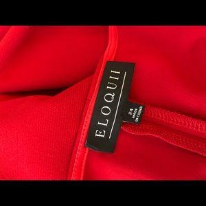 Eloquii Dresses - NWT Eloquii red short sleeve midi dress w/ seaming